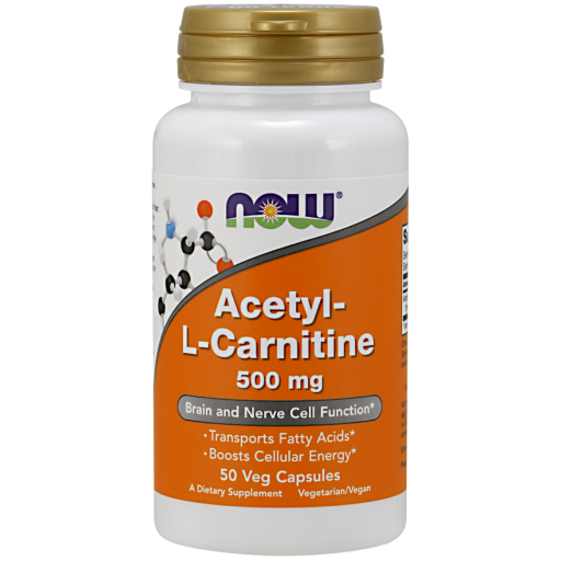 Acetyl L-Carnitine, 500mg - 50 vcaps NOWFOODS