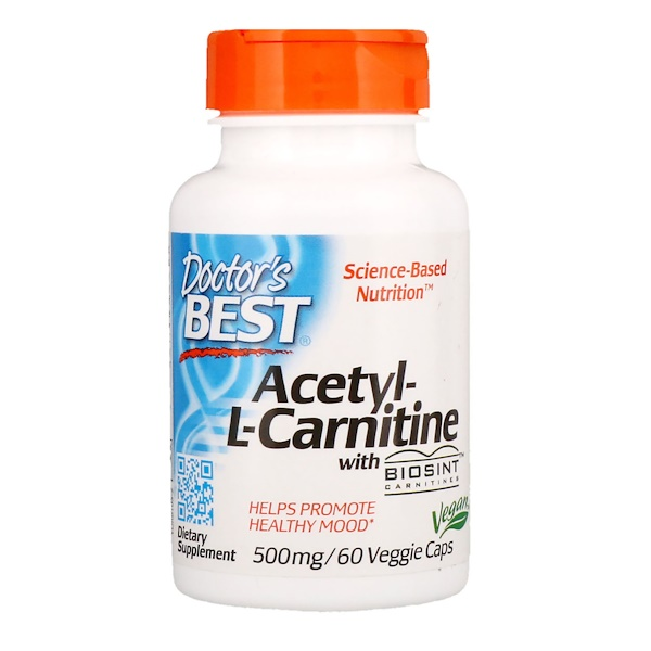 Acetyl L-Carnitine with Biosint Carnitines - 500mg - 60 vcaps DrBest