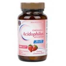 Acidophilus Truskawka do żucia - 100 tablets Holland & Barrett