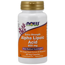 Alpha Lipoic Acid with Grape Seed Extract & Bioperine, 600mg - 60 vcaps NOWFOODS