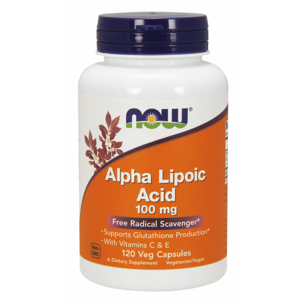Alpha Lipolic Acid with Vitamins C & E, 100mg - 120 vcaps NOWFOODS