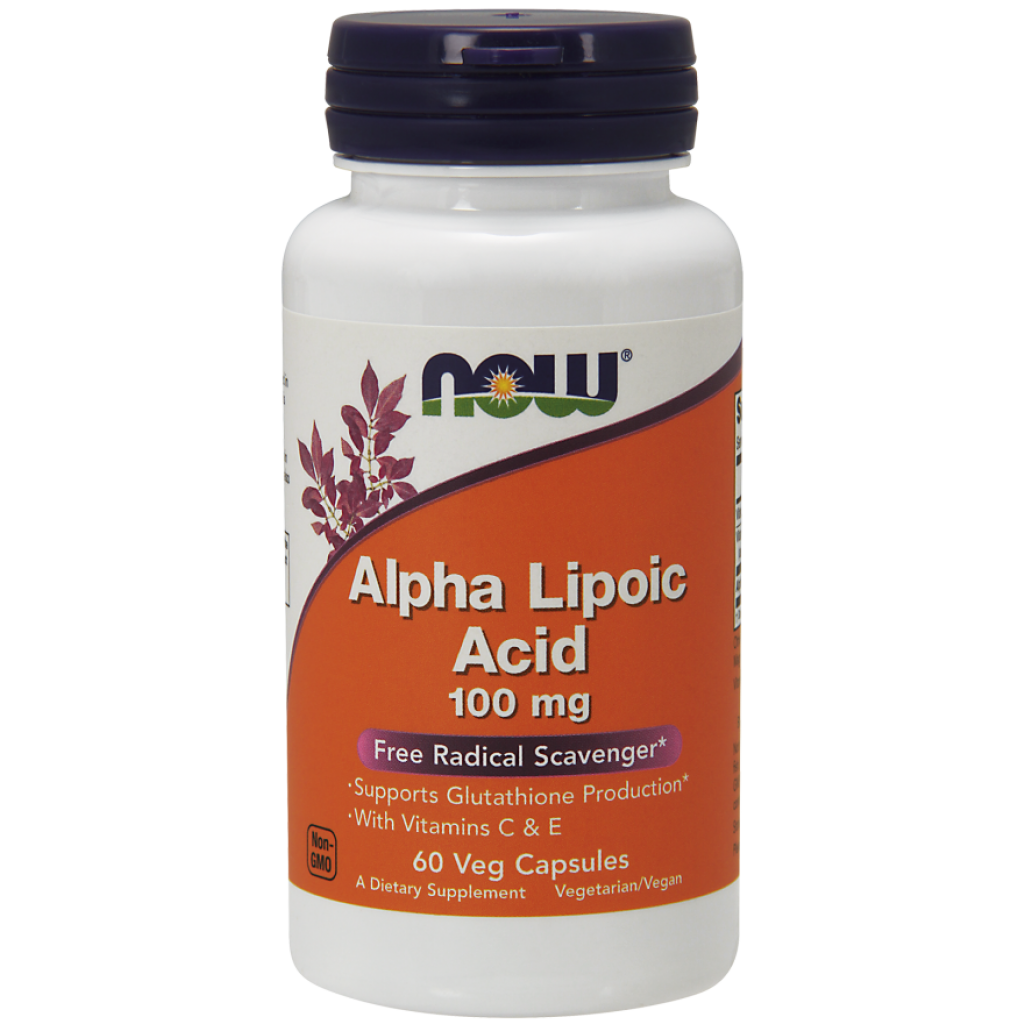 Alpha Lipolic Acid with Vitamins C & E, 100mg - 60 vcaps NOWFOODS