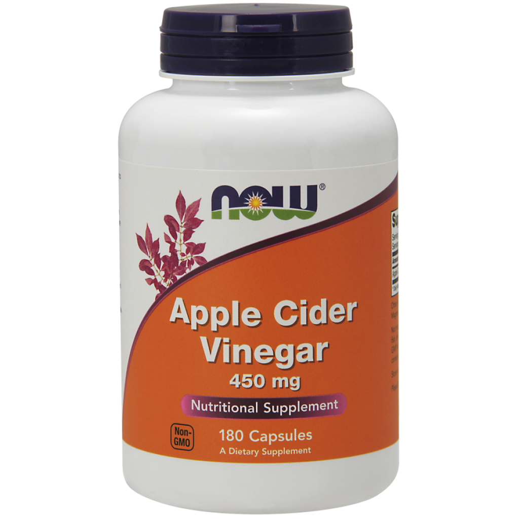 Apple Cider Vinegar, 450mg - 180 caps NOWFOODS