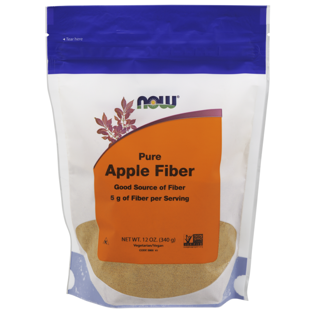 Apple Fiber with Apple Pectin – 340g NOWFOODS