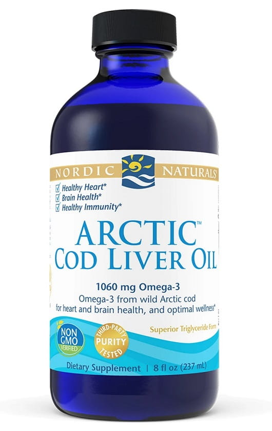 Arctic Cod Liver Oil, 1060mg Unflavored - 237 ml. Nordic Naturals