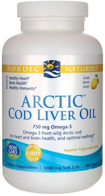 Arctic Cod Liver Oil, 750mg Lemon - 90 softgels Nordic Naturals