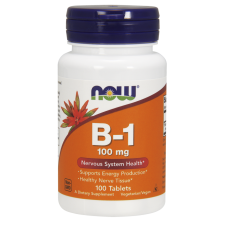 Now Foods Witamina B-1, 100 mg 100 tabletek