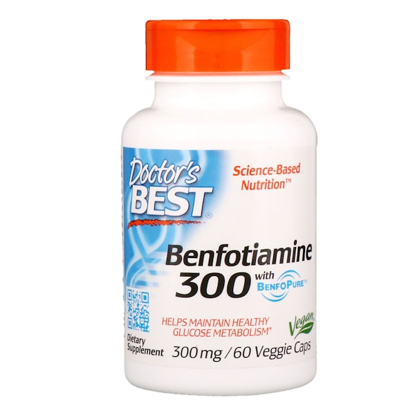 Benfotiamine with BenfoPure - 300mg - 60 vcaps DrBest