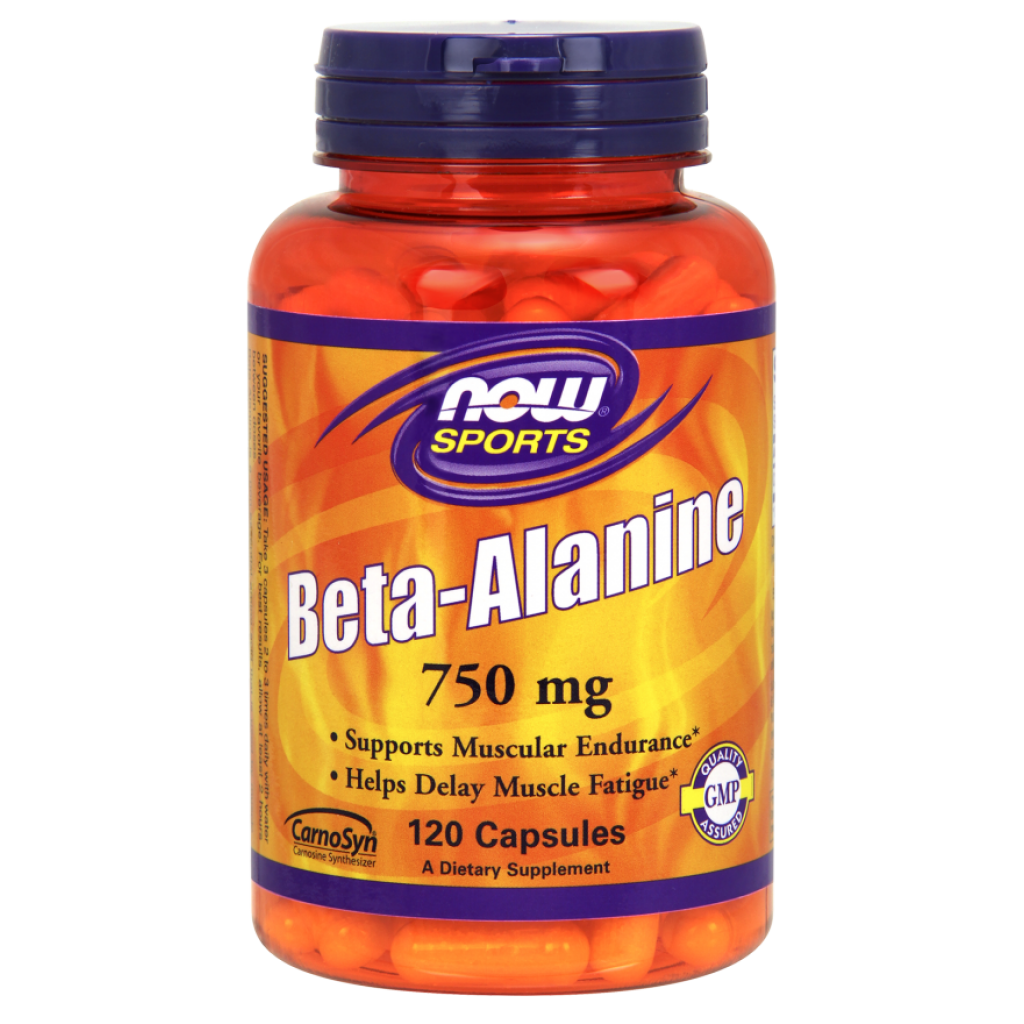 Beta Alanine, 750mg (Caps) - 120 caps NOWFOODS