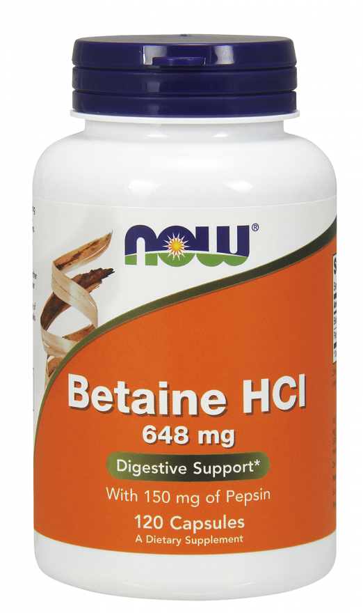 Betaine HCl 648 mg BETAINA 120kaps