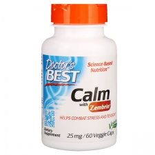 Calm with Zembrin, 25mg - 60 vcaps DrBest