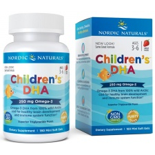 Children's DHA, 250mg Strawberry - 180 softgels Nordic Naturals