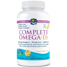 Complete Omega-D3, 565mg Lemon - 120 softgels Nordic Naturals