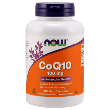 CoQ10 with Hawthorn Berry, 100mg - 180 vcaps NOWFOODS