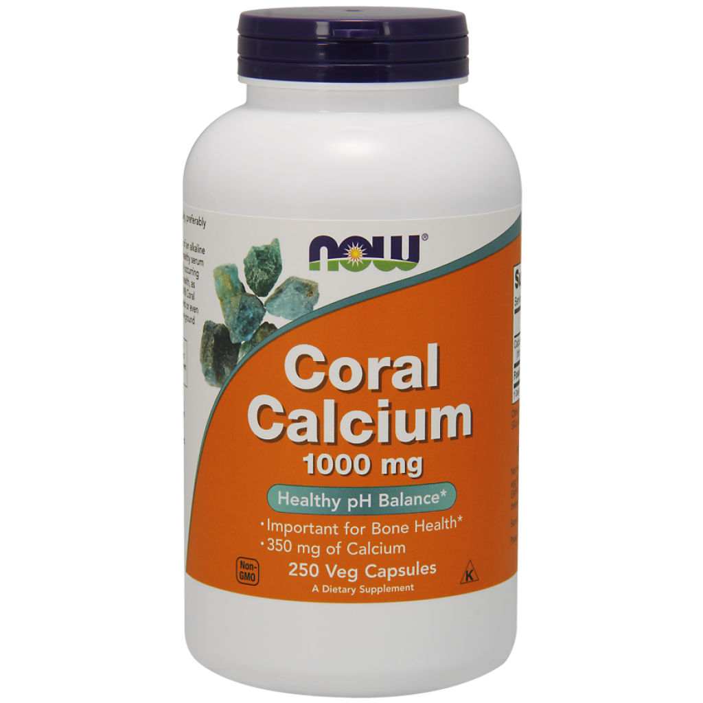 Coral Calcium, 1000mg - 250 vcaps NOWFOODS