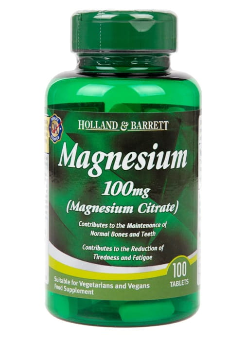 Cytrynian Magnezu 100mg - 100 tablets Holland & Barrett