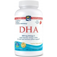 DHA, 830mg Strawberry - 180 softgels Nordic Naturals