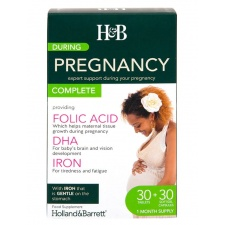 During Pregnancy Podczas ciąży dwupak - 30 tablets & 30 capsules Holland & Barrett