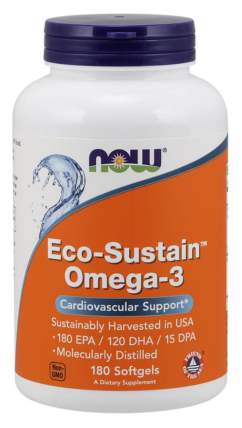 Eco-Sustain Omega-3 - 180 softgels Nowfoods