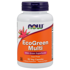 EcoGreen Multi, Iron Free - 90 vcaps NOWFOODS