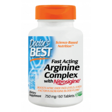 Fast Acting Arginine Complex with Nitrosigine, 750mg - 60 tablets DrBest