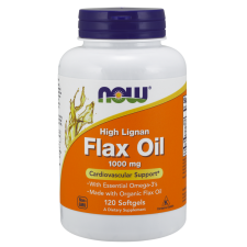 Flax Oil, 1000mg High Lignan - 120 softgels NOWFOODS