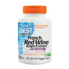 French Red Wine Grape Extract with Biovin, 60mg - 90 vcaps DrBest