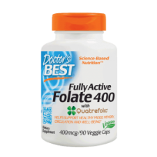 Fully Active Folate 400 with Quatrefolic, 400mcg - 90 vcaps DrBest