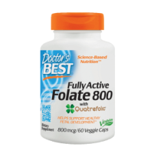 Fully Active Folate 800 with Quatrefolic, 800mcg - 60 vcaps DrBest