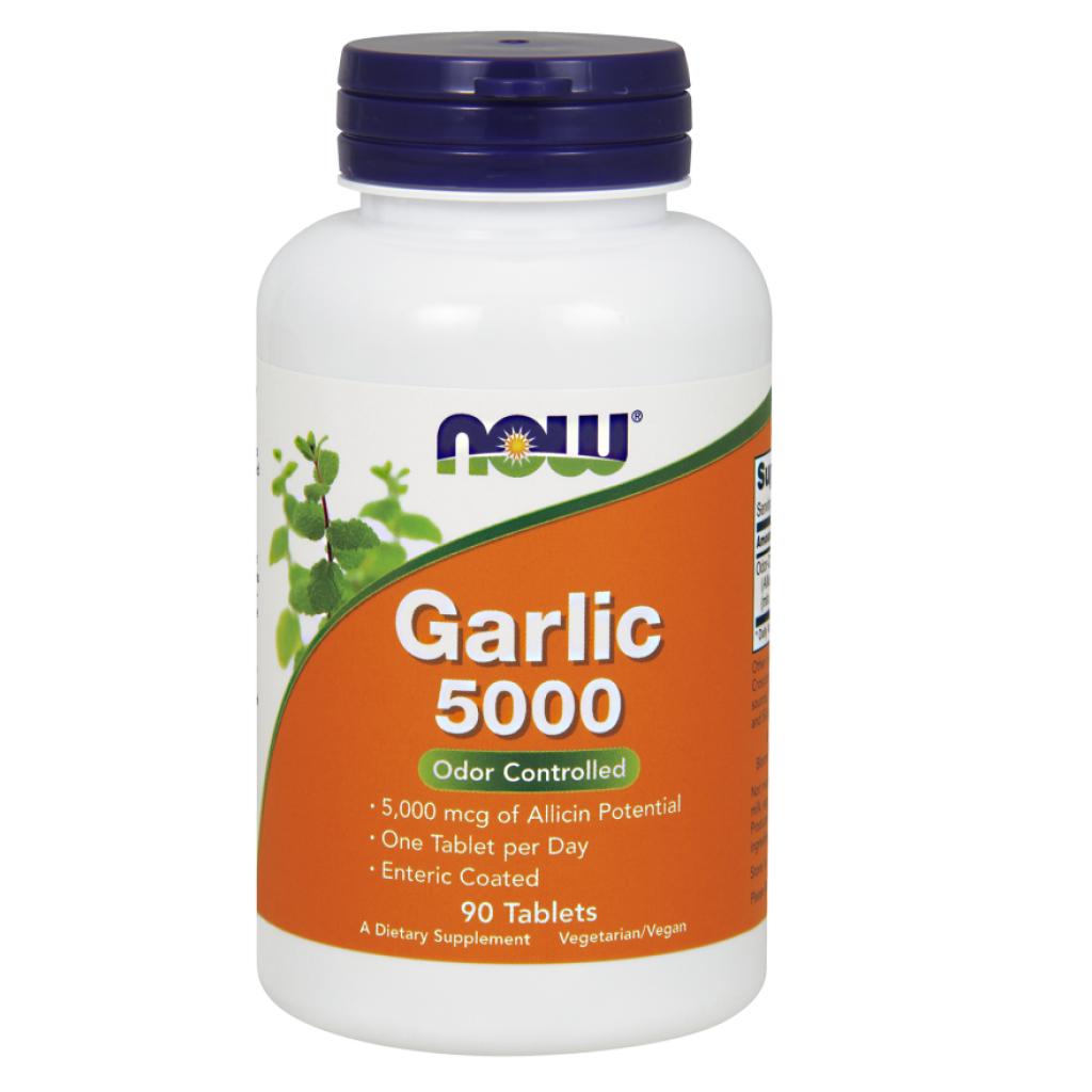Garlic 5000, Odor Controlled - 90 tablets NOWFOODS