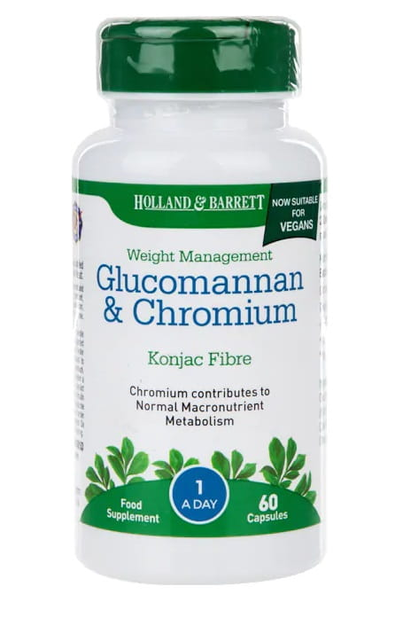 Glucomannan i Chrom - 60 kaps Holland & Barrett