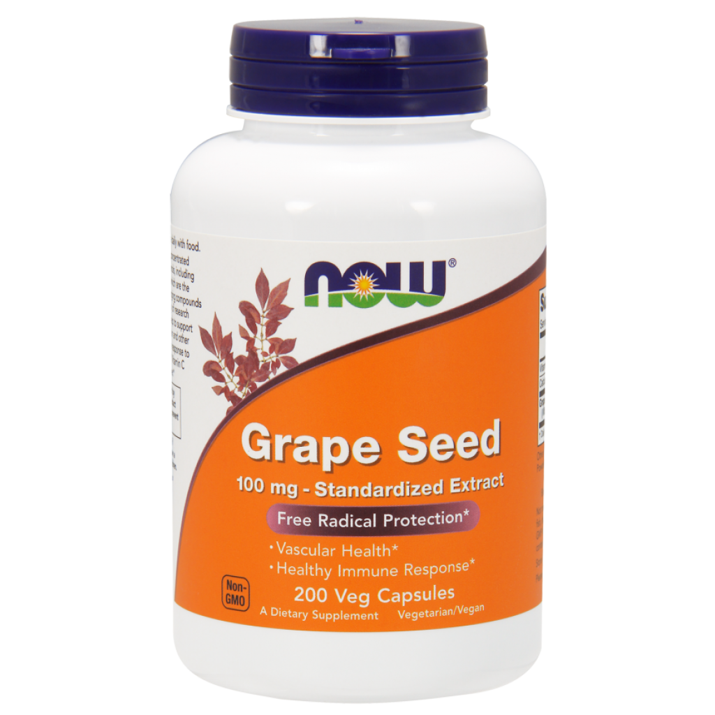 Grape Seed, 100mg - Standardized Extract - 200 vcaps NOWFOODS