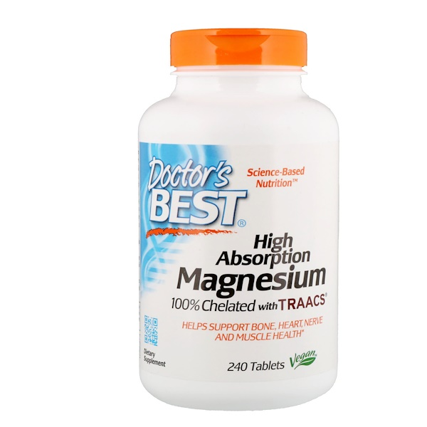 High Absorption Magnesium - 100mg - 240 tablets DrBest