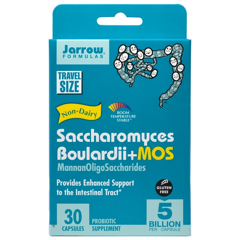 Jarrow Formulas, Saccharomyces Boulardii + MOS, 5 Billion, 30 Veg kaps