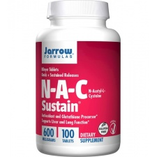 JARROW NAC Sustaine 600mg 100 tabletek