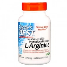 L-Arginine - Sustained + Immediate Release, 500mg - 120 tablets DrBest