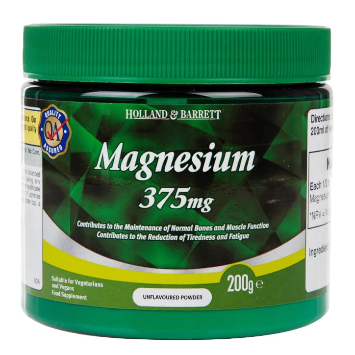 Magnesium Powder, 375mg - 200g Holland & Barrett