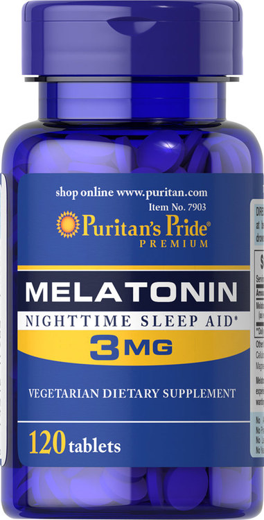 Melatonin 3 mg 120kaps Puritans