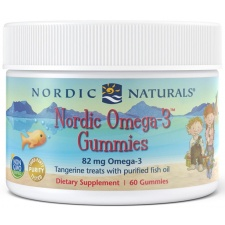 Nordic Omega-3 Gummies, 82mg Tangerine Treats - 60 gummies Nordic Naturals