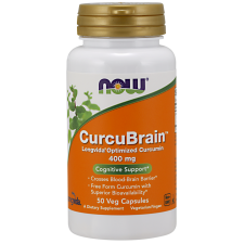 Now Foods, CurcuBrain 400mg 50 Vkaps