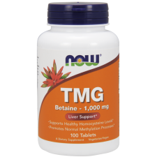 Now Foods, TMG 1000 mg, 100 tabletek (Betaina bezwodna)