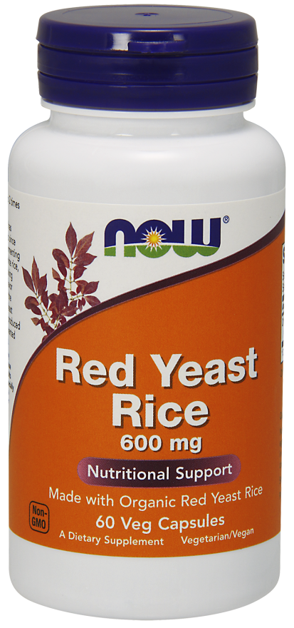 RED YEAST RICE CZERWONY RYŻ 600 MG 60KAPS NOWFOODS