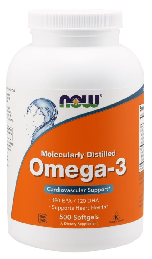 Omega-3 Molecularly Distilled - 500 softgels Nowfoods