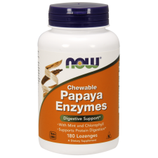 Papaya Enzyme - 180 tabletek do ssania Nowfoods