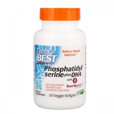 Phosphatidylserine Serine plus DHA with SerinAid - 60 veggie softgels DrBest