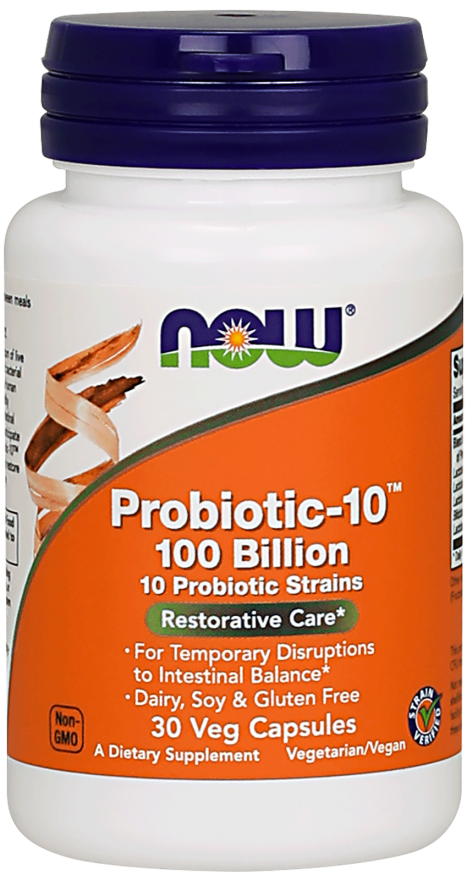 Probiotic-10 100 Billion 30 vkaps Nowfoods