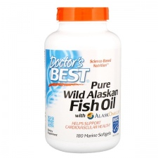 Pure Wild Alaskan Fish Oil with AlaskOmega - 180 softgels DrBest