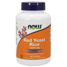 Red Yeast Rice Czerwony ryż 1200 mg 120kaps Nowfoods