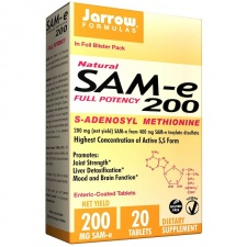 SAM-e (S-adenozylo-L-metionina) 200, 200 mg, 20tb Jarrow