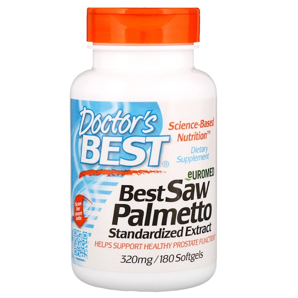 Saw Palmetto Standardized Extract - 320mg - 180 softgels DrBest